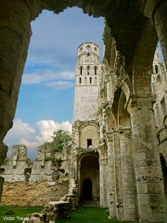 The ruins of the Jumieges Abbey in Normandy, France. http://victortravelblog.com/2013/06/25/examining-jumieges-benedictine-abbey/