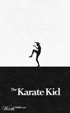 'Minimalist Movie Posters' - Open photoshop contest is now closed. The Karate Kid 1984, Karate Kid Movie, Karate Kid Cobra Kai, Posters Geek, Cool Posters, Movie Posters, Cobra Kai Dojo, Cinema Tv, Music Events