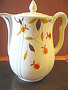 Vintage Hall Jewel Tea Autumn Leaf Coffee Pot. Click on the image for more information.
