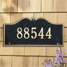 Whitehall Products Hillsboro Address Plaque Finish: Pewter and Silver