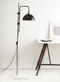87.5 Bronze Flint Floor Lamp - BHS