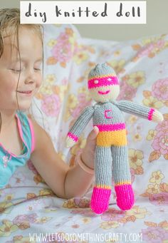 I only learnt how to knit at the start of the year so I was quite pleased with how this doll turned out. I made it from the Crafty Dolls book by Jane Bull and found the instructions really simple to follow. Great for beginners.