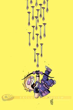 All New Hawkeye #1 variant cover by Skottie Young *