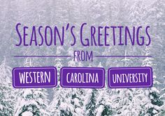Video: Season's Greetings From Western Carolina University! Features moments to remember from 2013!