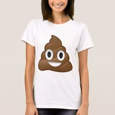 Smiling Poop Emoji T-Shirt One happy pile of poop [poop emoji shirt]