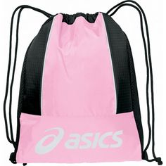 e6c657c1091b Pink Black ASICS Team Cinch Bag at Volleyball.Com