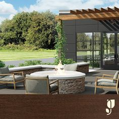 The Country Inns & Suites' veranda is a breath of fresh air. Tables and a cozy fire make it an ideal gathering space under the sky. Learn more about Country Inns & Suites' new design at the Talk of the Country blog.