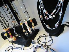 Jewelry with glass beads