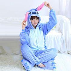 Stitch Hoodie Onesie Adult Pajama Sleepwear Kawaii - OtakuForest.com