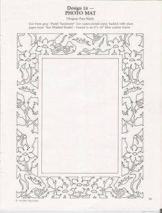 Paper Cut Frame Template ~ Paper Cutters | Patterns & Templates ...