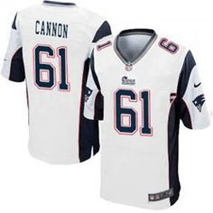 """$78.00--Marcus Cannon White Elite Jersey - Nike Stitched New England Patriots #61 Jersey,Free Shipping! Buy it now:click on the picture, than click on """"visit aliexpress.com"""" In the new page."""