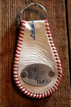 Baseball Keychain Great gift for Fathers Day by BELOdesigns, $25.00