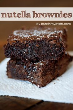 Love Nutella, Love Brownies!