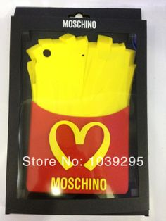 Moschino McDonald Cover case for iPad mini 2 french fries Case silicone protective sleeve Free Shipping $18.00
