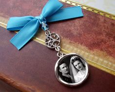 Glamour Bride Something Blue Wedding Day Memorial by AristoCrafty, $9.99