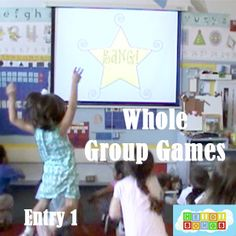 Click here for the 1st of 8 blog posts with whole group, educational games to play with one adult and a large group of children.