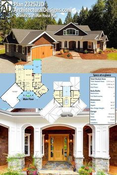 Architectural Designs 4-Bed Dramatic Craftsman House Plan 23252JD has a classic exterior with a modern open floor plan. Over 2,800 square feet of heated living space. Ready when you are. Where do YOU want to build?