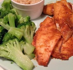Chipotle Lime Tilapia, Broccoli, and Brown Rice.  HIGH PROTEIN LOW CARB RECIPES