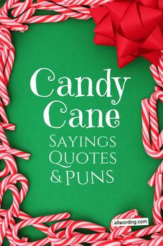 A list of candy cane sayings, quotes, and puns for Christmas. Holiday Puns, Christmas Puns, Holiday Candy, Christmas Quotes, Christmas Candy, Christmas Crafts, Christmas Time, Christmas Ideas, Christmas Parties