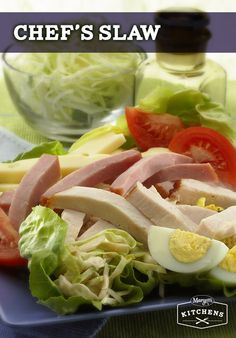Chef's Slaw: Cabbage and lettuce are tossed in a mixture of Marzetti ...