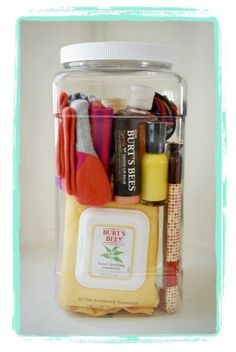 """New Mom Hospital Survival Kit"" Cute idea!"