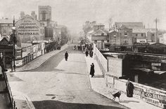 Looking down the High Street from the junction of Mount Pleasant and Grove Hill Road some time before 1907 when the road and bridge were altered. Old Photos, Vintage Photos, Tunbridge Wells, Mount Pleasant, Hill Station, Places Ive Been, Castle, England, Street View