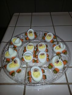 Baby buggy deviled eggs