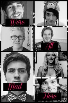 Smosh, Dan and Phil, Pewdiepie, Tyler Oakley, Jenna Marbles. Created by Lolita May