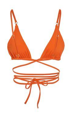 Palm's 'Talise' bikini top is the epitome of statement swimwear. Bikini Bottoms, Bikini Tops, Designer Swimwear, Summer Girls, Designing Women, Lounge Wear, String Bikinis, Bathing Suits, Swimsuits