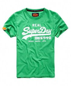 536cba0423b6 Shop Superdry Mens Vintage Logo T-shirt in Kelly Green Marl. Buy now with  free delivery from the Official Superdry Store.