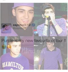 I love purple!!! I also love zayn