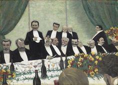 """""""Le Toast"""" de Félix Vallotton (1865-1925). Paris, musée d'Orsay - Photo (C) Musée d'Orsay, Dist. RMN-Grand Palais / Patrice Schmidt"""