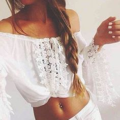 Boho adorable white lace crochet | Fashion And Hair