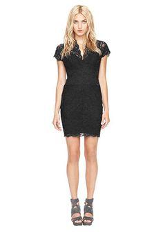 Nicole Miller V-Neck lace dress *heart*