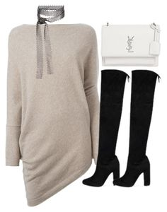 """""""Untitled #4350"""" by maddie1128 ❤ liked on Polyvore featuring Ralph Lauren Purple Label, Yves Saint Laurent and Fallon"""