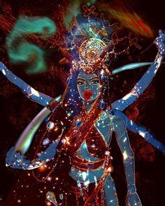 Divine Goddess, Kali Goddess, Mother Goddess, Spiritual Satanism, Maa Durga Image, Ballpoint Pen Art, Sacred Feminine, Divine Feminine, Kali Mata