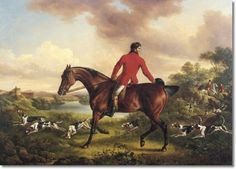 Charles Towne, Laying Them On, 1811. Foxhounds.