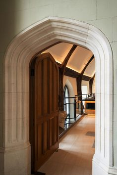 """Corpus Christi College, Cambridge - Old Hall, Wilkins Stair & Parker Room - dpa lighting consultants - """"Right Light, Right Place, Right Time"""" ™ Road Trip Essentials, Road Trip Hacks, Road Trips, Corpus Christi Cambridge, Corpus Christi College, Corridor Lighting, Timber Beams, Family Vacations"""