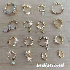 """Indiatrend on Instagram: """"Love how clip on nose rings can glam up your look! We have so many styles you can choose from! ################## SHIPPING WORLDWIDE 🌍…"""" Nose Rings, Love, Instagram, Style, Amor, Swag, Outfits"""