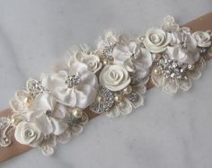 Marco nupcial marfil elegante Rhineston y boda por TheRedMagnolia