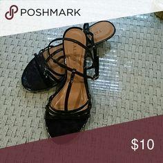 Sandals Navy strappy sandals EUC Talbots Shoes Sandals