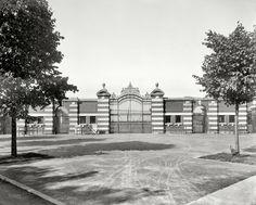 "Ann Arbor, Michigan, circa 1909. ""Entrance to Ferry Field, University of Michigan."" 8x10 inch glass negative, Detroit Publishing Co."