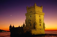 Tower of Belem at sunset, Portugal.  Be inspired at http://www.lonelyplanet.com/portugal