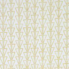 Monochrome by Ellen Luckett-Baker Points Metallic Gold Double Gauze – Drygoods Design