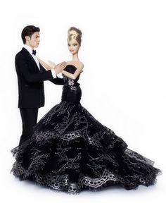 Barbie in a black wedding dress? #barbies #wedding www.BlueRainbowDesign.com