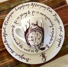 Hobbit DIY sharpie dishes.