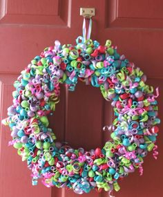 Custom Color Balloon Wreath ... from 'LittleCraftyCottage' on Lilyshop for $55.00