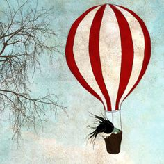 Up in the sky   Illustration print large size 79 x 79 by majalin, kr250.00
