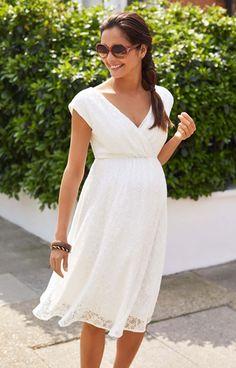 2e344135e49 Nicola Lace Dress. White Lace Maternity ...