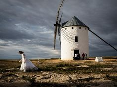 A bride walks carefully in Campo de Criptana, Spain, in this National Geographic Photo of the Day.